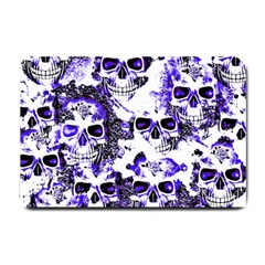 Cloudy Skulls White Blue Small Doormat