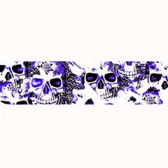Cloudy Skulls White Blue Large Bar Mats