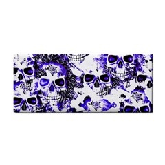 Cloudy Skulls White Blue Cosmetic Storage Cases