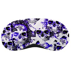 Cloudy Skulls White Blue Sleeping Masks