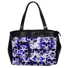 Cloudy Skulls White Blue Office Handbags