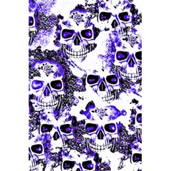 Cloudy Skulls White Blue 5.5  x 8.5  Notebooks