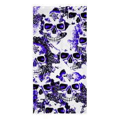 Cloudy Skulls White Blue Shower Curtain 36  x 72  (Stall)