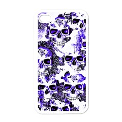 Cloudy Skulls White Blue Apple iPhone 4 Case (White)