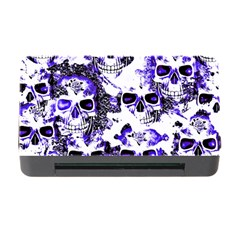 Cloudy Skulls White Blue Memory Card Reader with CF