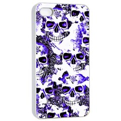Cloudy Skulls White Blue Apple iPhone 4/4s Seamless Case (White)