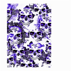 Cloudy Skulls White Blue Small Garden Flag (Two Sides)