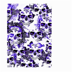 Cloudy Skulls White Blue Large Garden Flag (Two Sides)