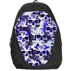 Cloudy Skulls White Blue Backpack Bag