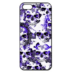 Cloudy Skulls White Blue Apple iPhone 5 Seamless Case (Black)