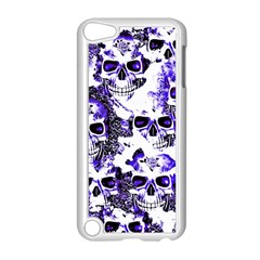 Cloudy Skulls White Blue Apple iPod Touch 5 Case (White)