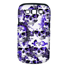 Cloudy Skulls White Blue Samsung Galaxy S III Classic Hardshell Case (PC+Silicone)