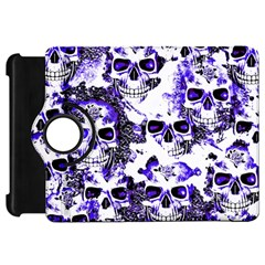Cloudy Skulls White Blue Kindle Fire HD 7
