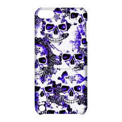 Cloudy Skulls White Blue Apple iPod Touch 5 Hardshell Case with Stand