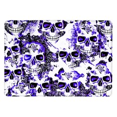 Cloudy Skulls White Blue Samsung Galaxy Tab 10.1  P7500 Flip Case