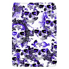 Cloudy Skulls White Blue Flap Covers (S)