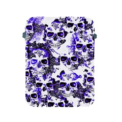 Cloudy Skulls White Blue Apple iPad 2/3/4 Protective Soft Cases