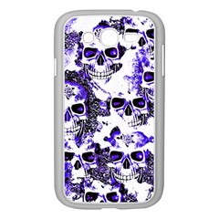 Cloudy Skulls White Blue Samsung Galaxy Grand DUOS I9082 Case (White)