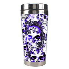 Cloudy Skulls White Blue Stainless Steel Travel Tumblers
