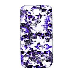 Cloudy Skulls White Blue Samsung Galaxy S4 I9500/I9505  Hardshell Back Case