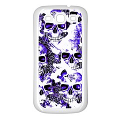 Cloudy Skulls White Blue Samsung Galaxy S3 Back Case (White)