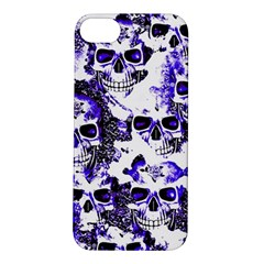 Cloudy Skulls White Blue Apple iPhone 5S/ SE Hardshell Case