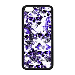 Cloudy Skulls White Blue Apple iPhone 5C Seamless Case (Black)