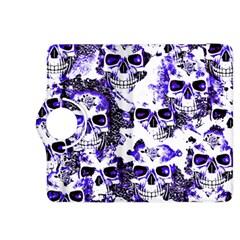 Cloudy Skulls White Blue Kindle Fire HDX 8.9  Flip 360 Case