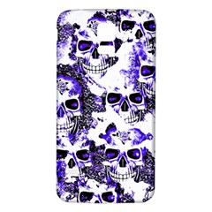 Cloudy Skulls White Blue Samsung Galaxy S5 Back Case (White)