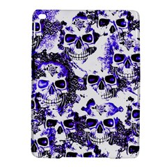 Cloudy Skulls White Blue iPad Air 2 Hardshell Cases