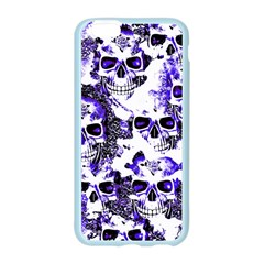 Cloudy Skulls White Blue Apple Seamless iPhone 6/6S Case (Color)