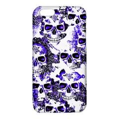 Cloudy Skulls White Blue iPhone 6/6S TPU Case