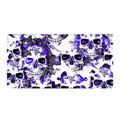 Cloudy Skulls White Blue Satin Wrap