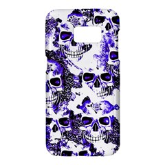 Cloudy Skulls White Blue Samsung Galaxy S7 Hardshell Case
