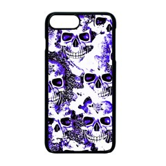 Cloudy Skulls White Blue Apple iPhone 7 Plus Seamless Case (Black)
