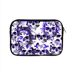 Cloudy Skulls White Blue Apple MacBook Pro 15  Zipper Case