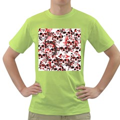 Cloudy Skulls White Red Green T-Shirt