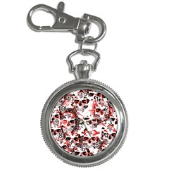 Cloudy Skulls White Red Key Chain Watches
