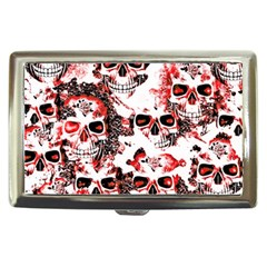 Cloudy Skulls White Red Cigarette Money Cases
