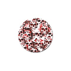 Cloudy Skulls White Red Golf Ball Marker (4 pack)