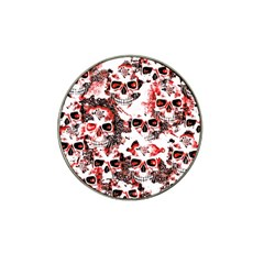 Cloudy Skulls White Red Hat Clip Ball Marker