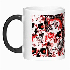 Cloudy Skulls White Red Morph Mugs