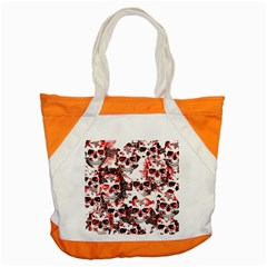 Cloudy Skulls White Red Accent Tote Bag