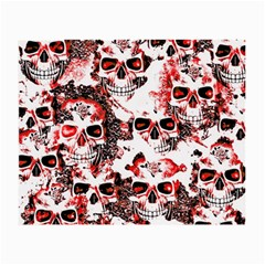 Cloudy Skulls White Red Small Glasses Cloth (2-Side)