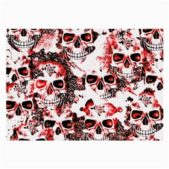 Cloudy Skulls White Red Large Glasses Cloth (2-Side)