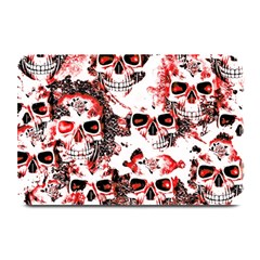 Cloudy Skulls White Red Plate Mats