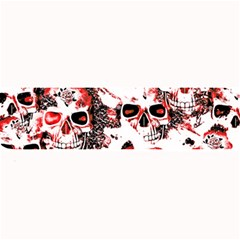 Cloudy Skulls White Red Large Bar Mats