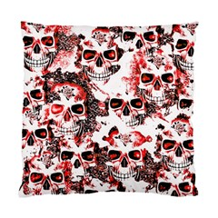 Cloudy Skulls White Red Standard Cushion Case (One Side)