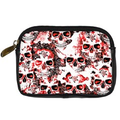 Cloudy Skulls White Red Digital Camera Cases