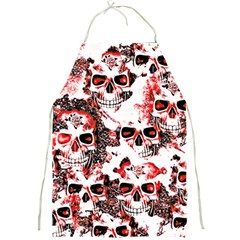 Cloudy Skulls White Red Full Print Aprons